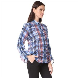 Authentic Opening Ceremony Plaid Button-Up Blouse